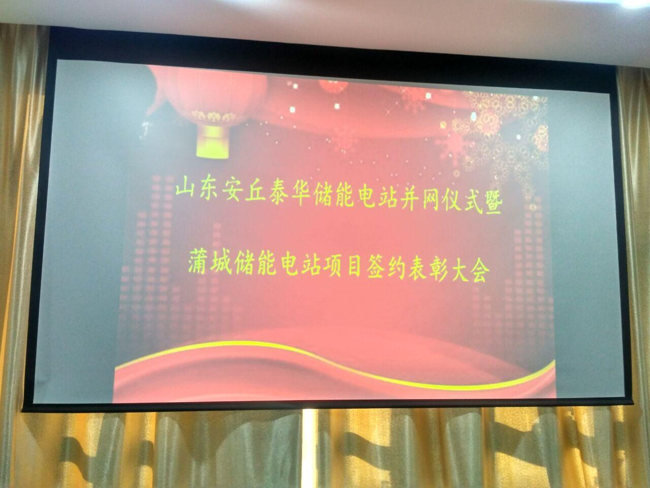 热烈祝贺我公司山东安丘泰华凯发k8娱乐手机电站顺利并网发电